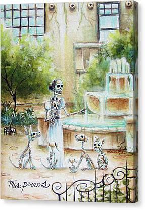 Mis Perros Canvas Print by Heather Calderon