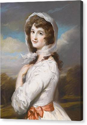 Miss Adelaide Paine Canvas Print by William Hamilton