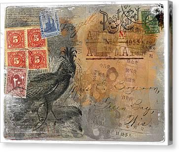 Miss Bergeron Postcard Canvas Print by Carol Leigh