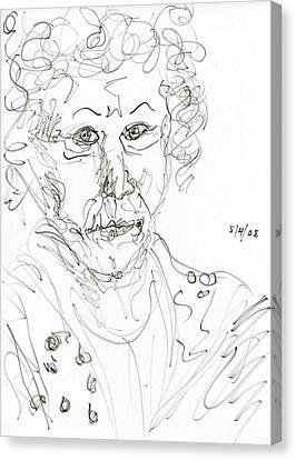 Miss Marple Sketch II Canvas Print by Rachel Scott