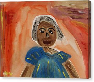 Miss Mary Franklin Canvas Print by Mary Carol Williams