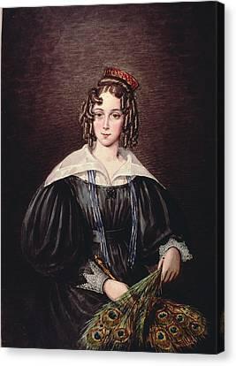 Miss Mary Kirby Of Castle Howard Inn, Yorkshire Canvas Print by Mary Ellen Best