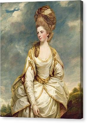 Miss Sarah Campbell Canvas Print by Sir Joshua Reynolds