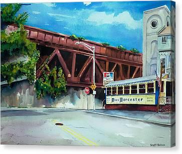 Miss Worcester Bridge Canvas Print by Scott Nelson