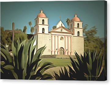 Wanta Barbara Mission Canvas Print by Barbara Snyder
