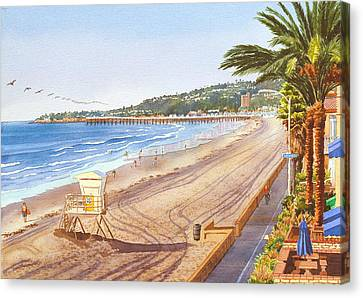 Mission Beach San Diego Canvas Print by Mary Helmreich