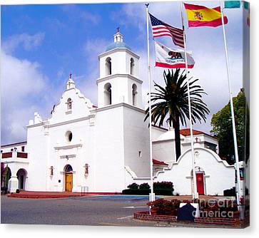 Mission San Luis Rey Canvas Print by Jerome Stumphauzer