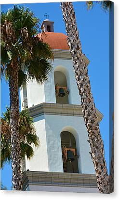 Mission Tower And Bells Canvas Print by Richard Jenkins