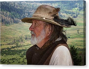 Missouri Jim - Trapper Canvas Print by Nikolyn McDonald