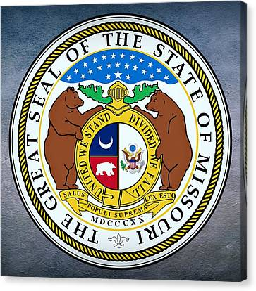 Missouri State Seal Canvas Print by Movie Poster Prints