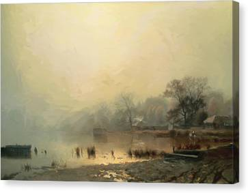 Mist In The Morning Canvas Print by Georgiana Romanovna