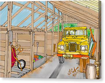 Mister Filby's Toolshed Canvas Print by Gerry Robins