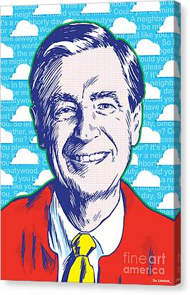 Mister Rogers Pop Art Canvas Print by Jim Zahniser
