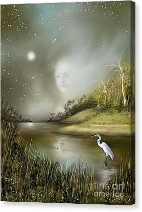 Mistress Of The Glade Canvas Print by Susi Galloway