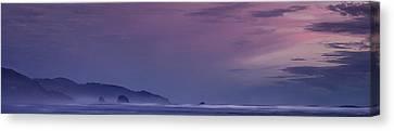 Misty Cannon Beach Canvas Print by Andrew Soundarajan