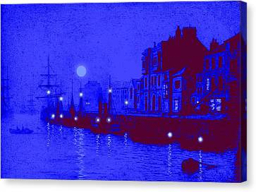 Misty Evening Whitby Harbor 1893 Canvas Print by John A Grimshaw - L Brown