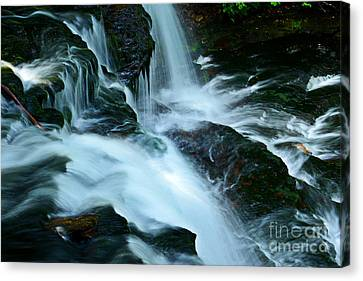 Misty Falls - 72 Canvas Print by Paul W Faust -  Impressions of Light
