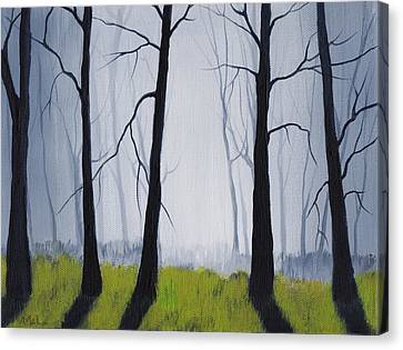 Misty Forest Canvas Print by Anastasiya Malakhova