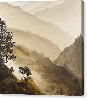 Misty Hills Canvas Print by Darice Machel McGuire