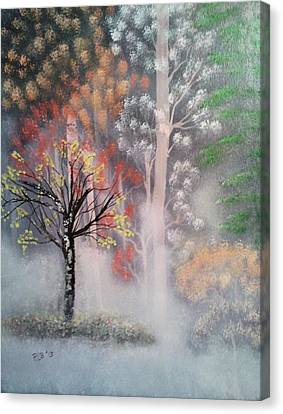 Misty Magic Forest Canvas Print by Lee Bowman