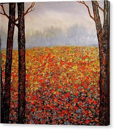 Misty Morning Canvas Print by Heather Matthews