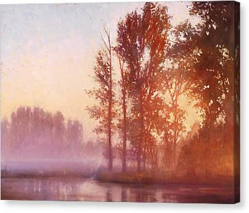 Misty Morning Memory Canvas Print by Michael Orwick