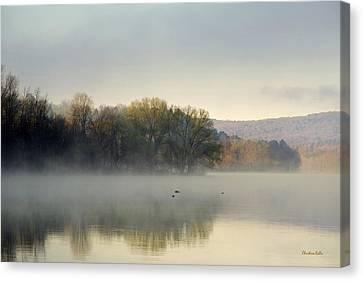 Misty Morning Sunrise Canvas Print by Christina Rollo