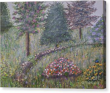 Misty Morning Canvas Print by William Ohanlan