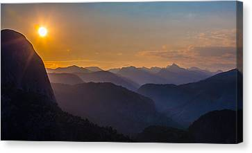 Misty Mountains Canvas Print by Mike Lee