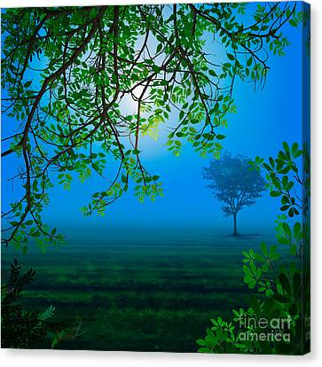 Misty Night Canvas Print by Bedros Awak