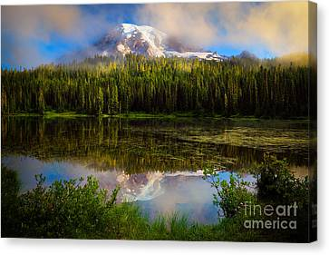 Misty Reflection Canvas Print by Inge Johnsson