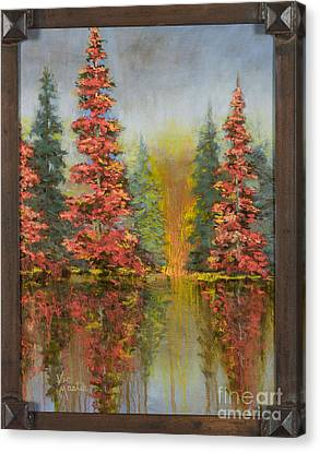 Misty Reflection Canvas Print by Vic  Mastis