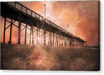 Misty Sunrise Canvas Print by Betsy C Knapp