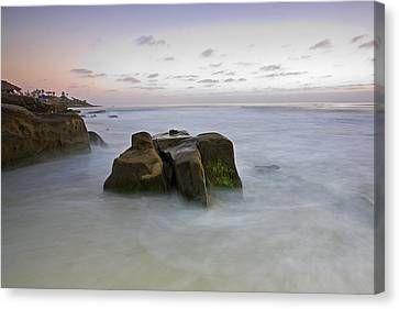 Misty Waters Canvas Print by Peter Tellone