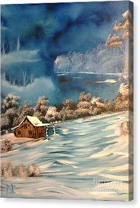 Misty Winter Canvas Print by Nick