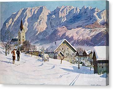 Mitterndorf In Austria Canvas Print by Gustave Jahn