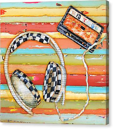 Mix Tape Canvas Print by Danny Phillips