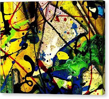 Mixed Media 106 Canvas Print by John  Nolan