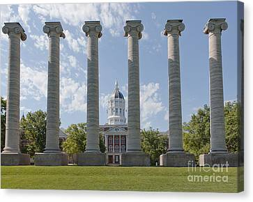Mizzou Jesse Hall And Columns Canvas Print by Kay Pickens