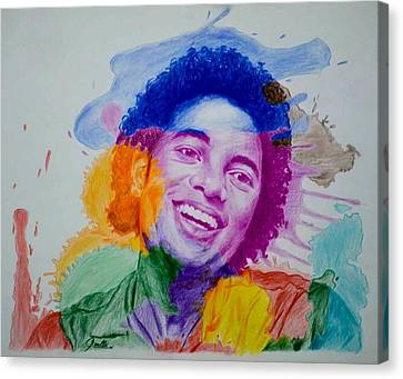 Mj Color Splatter Canvas Print by Sruthi Murali