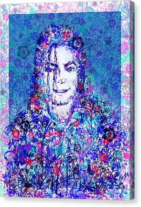 Mj Floral Version 2 Canvas Print by Bekim Art