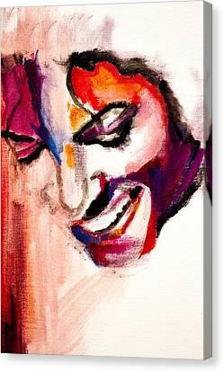 Mj Impression Canvas Print by Molly Picklesimer