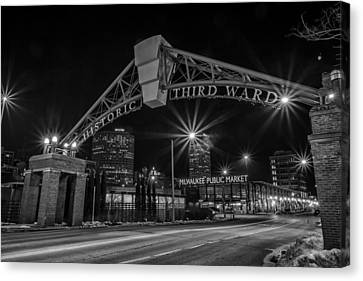 Mke Third Ward Canvas Print by CJ Schmit