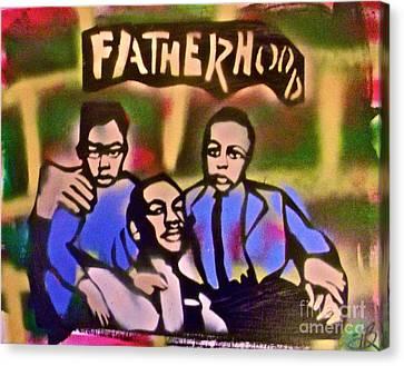Mlk Fatherhood 2 Canvas Print by Tony B Conscious