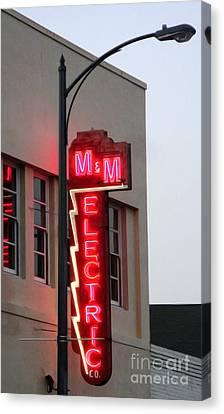 Mm Electric Canvas Print by Gregory Dyer