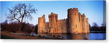 Moat Around A Castle, Bodiam Castle Canvas Print by Panoramic Images