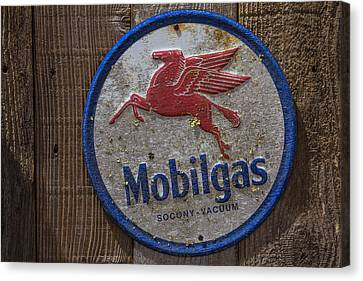 Mobil Gas Sign Canvas Print by Garry Gay