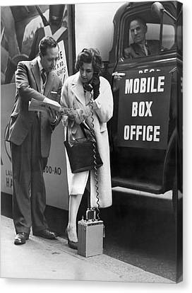 Mobile Box Office Phone Canvas Print by Underwood Archives