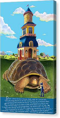 Mobile Home With Whimsical Poem Canvas Print by J L Meadows