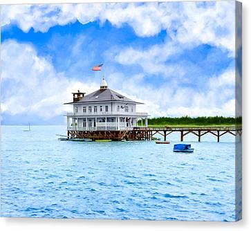 Mobile Yacht Club - Historic Alabama Coast Canvas Print by Mark E Tisdale